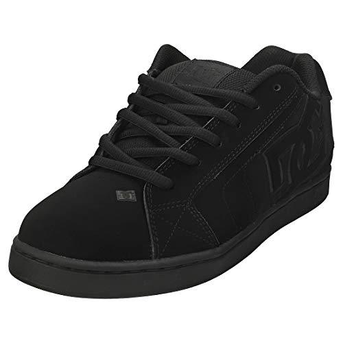DC Shoes - Zapatillas de deporte de cuero nobuck para hombre, Negro, 44