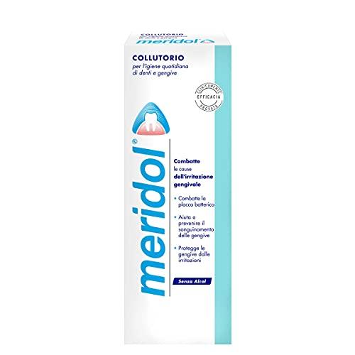 meridol Collutorio con Ingrediente Antibatterico, Protezione Gengive, Combatte i Batteri Causa dell'Irritazione Gengivale - 400ml