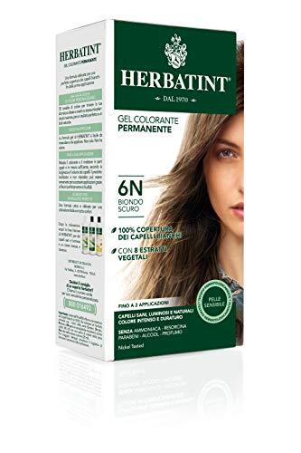 Herbatint Gel Colorante Permanente 6N Biondo Scuro 150 ml