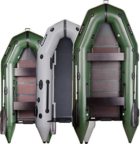 BARK BT-270 (2.7 m) BT -290 (2.9 m) BT-310 (3.1 m) BT-330 (3.3 m) Gommone Gonfiabile per Motore, canotto da Pesca, Barca a Remi e Barca a Vela (2.7 m, Verde)