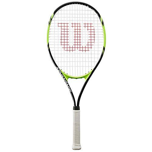 Wilson Advantage XL, WRT30140U3 Racchetta da Tennis per Giocatori Principianti e Amatoriali Unisex Adulto, Nero/Verde, L3