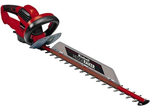 Einhell GE-EH 6560 Tagliasiepi elettrico (tensione 220-240 V, potenza 650 W, lungh. taglio 60 cm, distanza denti 30 mm, impugnatura rotante, incl. Faretra, collettore ramaglie)