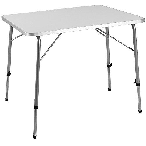 Deuba Tavolo da Campeggio Pieghevole Alluminio Altezza Regolabile 80x60cm Tavolino Spiaggia Picnic