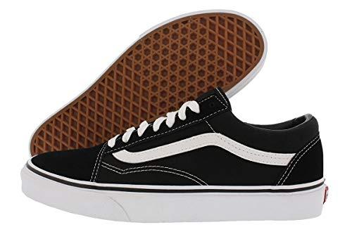 Vans Old Skool Classic - Scarpe da skate unisex, Nero (Classico nero/bianco.), 11.5 Women/10 Men