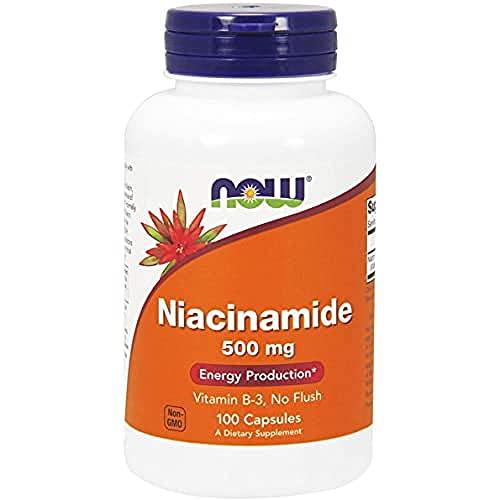 NOW 500Mg Niacinamide Vitamina B3 Veg 100 Capsule - 100 g