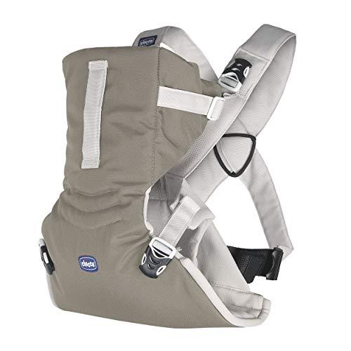 Chicco EasyFit Marsupio Neonati Ergonomico per Bebè e Bambini dalla Nascita a 9 kg, Porta Bebè Semplice e Intuitivo da Indossare, Fronte Mamma e Fronte Strada, con Supporto per Testa e Collo, Beige