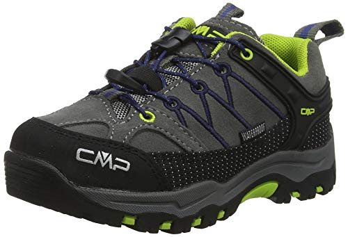 CMP Kids Rigel Low Trekking Shoes WP, Scarpe da Arrampicata Basse Unisex-Bambini, Nero (Graffite-Marine 35ud), 34 EU