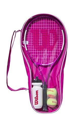 Wilson Ultra Pink Starter Set Kit, WR026710F Racchetta Ultra Pink 25, per Tennisti Principianti dai 9 ai 10 Anni, Bottiglia, 2 Palline da Tennis, Borsa Porta-Kit