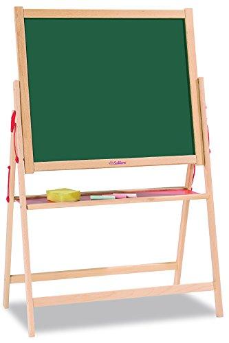 Eichhorn - Lavagna Magnetica Giocattolo Educativo in Legno di faggio, Inclusi 10 gessetti e 1 spugna, 35x56x87cm, +3 anni, 100002578