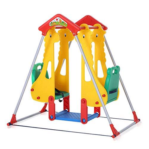 Altalena Gondola Parco giochi Bambini Interno Esterno Seggiolino Plastica Giardino Sicurezza Dondolo da Plastica - Zoo Nuovo per BABY VIVO