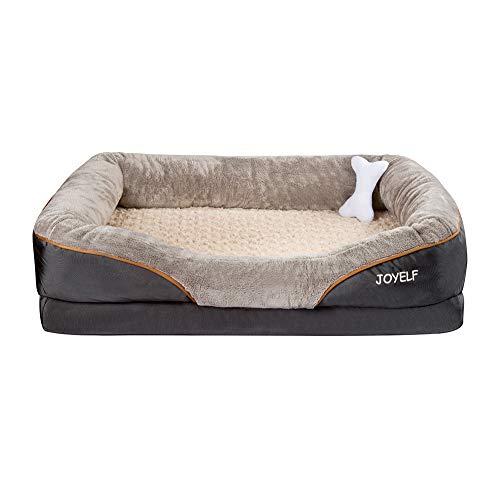 JOYELF XXLarge letto per cani in memory foam, letto per cani ortopedico e divano con rivestimento rimovibile e lavabile cuccia per cani di taglia grande