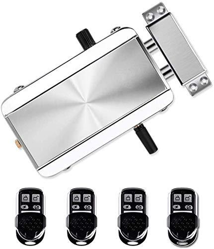kit di serratura elettronica senza chiave, serratura antifurto senza fili, sistema di controllo degli accessi per casa, hotel, appartamento con 4 telecomandi