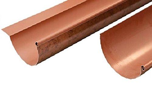 Gronda Grondaia Canala Alluminio Roof Rame 2 Metri Lineari - Tutti Gli Sviluppi, SENZA ALETTA, 25