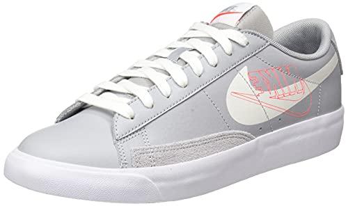 Nike Blazer Low MR, Scarpe da Basket Uomo, Wolf Grey/Sail-Bright Crimson-White, 42 EU