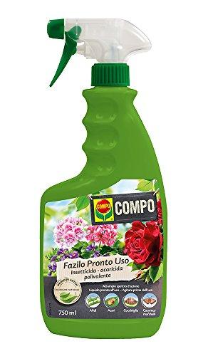 COMPO Fazilo Pronto Uso PFnPO, Insetticida Acaricida Polivalente, Per Piante Ornamentali, Liquido pronto all'uso, 750 ml