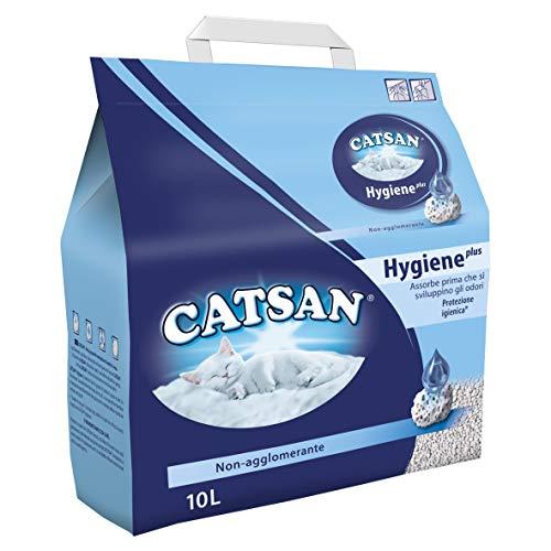 Catsan Hygiene Plus Lettiera per Gatti, 10L