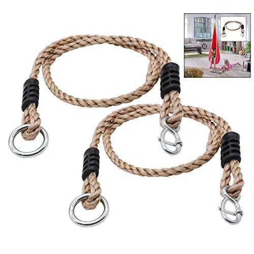 LHKJ 2 pezzi Altalena Regolabile Corda,Tree Swing Corda per Swing,Amaca e Sedia da Yoga