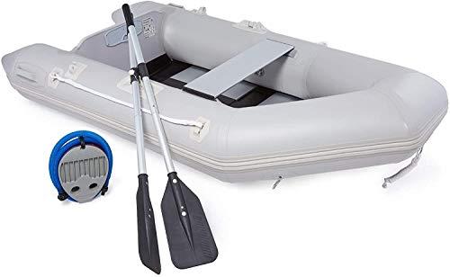 VONLUCE Gommone Gonfiabile per Adulti Kayak Gonfiabile con Remi Gommone da Pesca per 2 Persone 300KG Barca Gonfiabile per Pesca Nautica e Sport Acquatici (230x130x33cm)