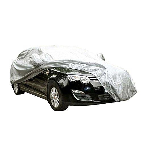 logei® Garage Telo copriauto Auto Copertura comprende Speciale Copertura Impermeabile per specchietto retrovisore, 415 x 170 x 150cm, Argento
