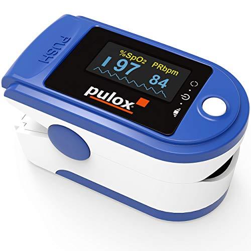 Pulox PO-200 Solo - Saturimetro Da Dito professionale certificato, con Display OLED con Letture Immediate Pulsossimetro misuratore Ossigeno (SpO2), Frequenza Del Polso (PR), per Adulti