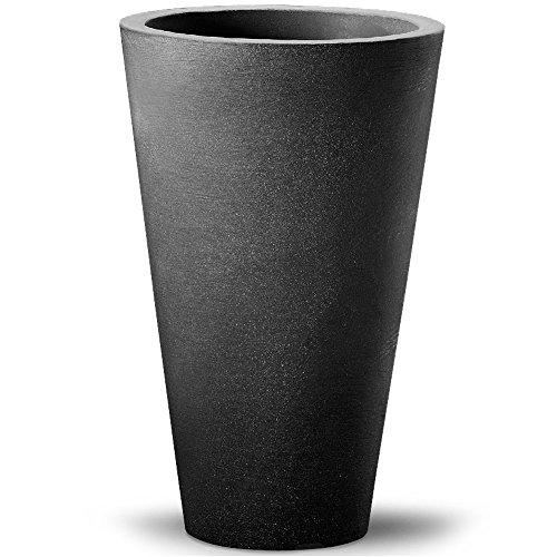 Deuba Vaso da Esterno Alto Capri Ø40x70cm Tondo Fioriera Giardino Balcone Terrazza Piante Fiori