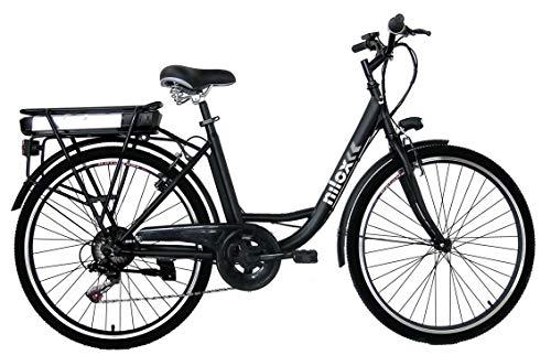 Nilox, E-Bike J5, Bici Elettrica con Pedalata Assistita, Motore Bafang a 3 velocità da 250 W e Batteria Removibile Samsung da 36 V, 8 Ah, Ruote da 26