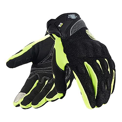 Guanti da moto per guanti da touch screen per uomo donna, traspiranti, da corsa fuoristrada, guanti da moto, protezioni per le dita, guanti da guida