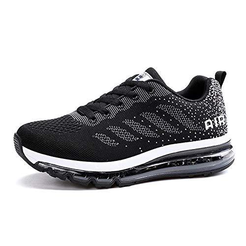 Donna Scarpe da Running Sportive Uomo Corsa Sneakers Ginnastica Outdoor Multisport Shoes Blackwhite 39