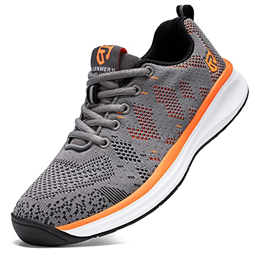 LARNMERN PLUS Uomo Scarpe da Ginnastica Sportive Antiscivolo Sneakers Running Basse Basket Traspirante Sport Outdoor Fitness Sneakers(Grigio 46)