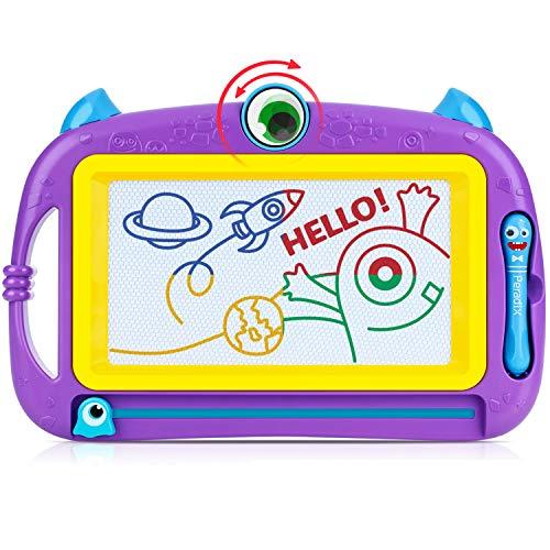 Peradix Lavagna Magnetica per Bambini - Tavola da Disegno Cancellabile Lavagnetta Magica- ,32x21x2cm Giocattolo Educativo e Creativo a 4 Colori - Regalo per Bambini, Giocattoli Educativo, (Viola)