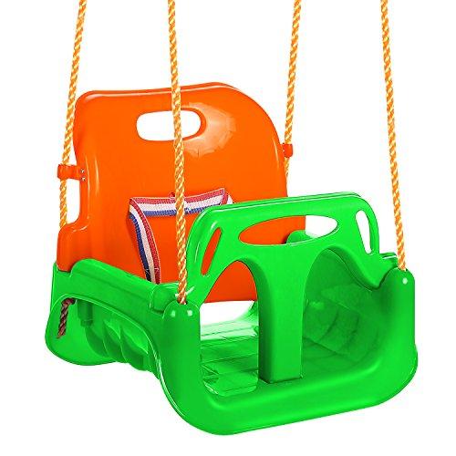 ANCHEER Altalena 3 in 1 per bambini, bambini e adolescenti, sedile rimovibile da appendere per esterni (verde)