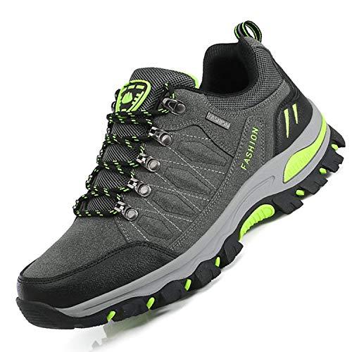 Unitysow Scarpe da Trekking Uomo Donna Arrampicata Sportive All'aperto Scarpe da Escursionismo Sneakers Unisex Impermeabili Traspiranti Passeggiate Stivali 35-47,Scuro Grigio-1,EU42