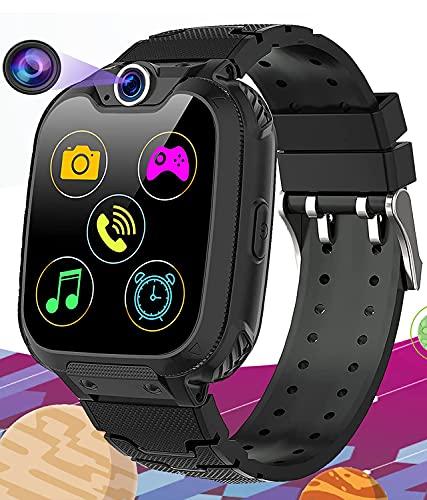 Smartwatch per Bambini con 16 Giochi - Musica MP3 Orologio Intelligente Bambini con SOS Telefono Camera Recorder Sveglia (Include 1GB Micro SD Card), Regali per Ragazzi Ragazze