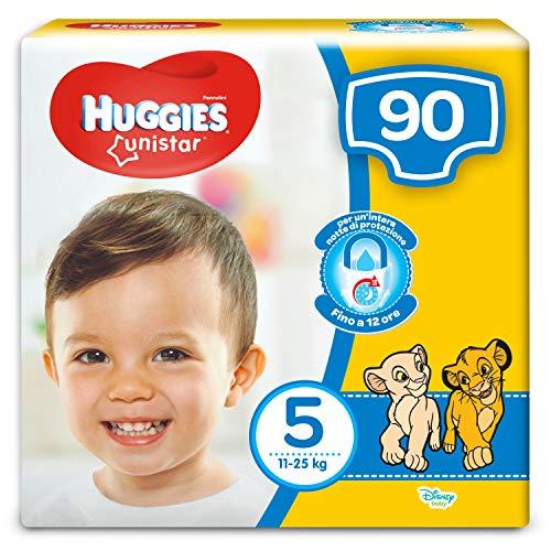 Huggies Pannolini Unistar, Taglia 5, 11-25 kg, 3 Confezioni da 30 (90 Pannolini)