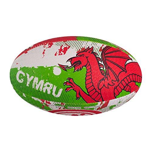 OPTIMUM Nations, Palla da Rugby Unisex – Adulto, Galles, Mini