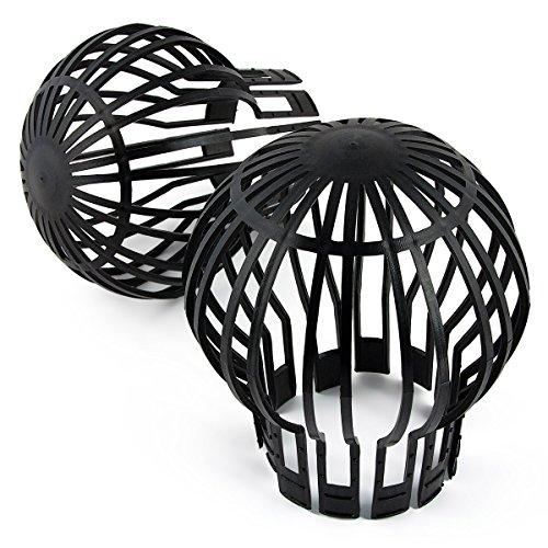 2 protezioni per grondaia, 11 cm, colore nero