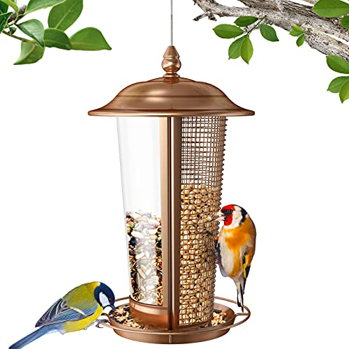 Sahara Sailor Mangiatoia per Uccelli, Mangiatoia per Uccelli Selvatici 2 in 1, Mangiatoia per Uccelli in Metallo,Mangiatoia per Uccelli da Appendere