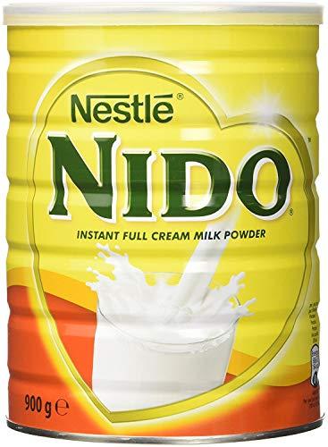 Nestlè Nido Latte in polvere intero – Crema istantanea per caffè e tè con aggiunta di vitamine e minerali e senza coloranti né conservanti aggiunti - 900g a Barattolo