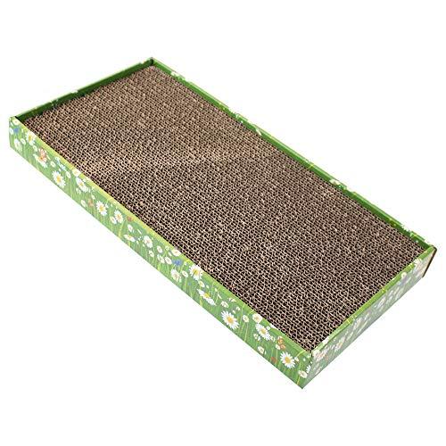Croci Tiragraffi per Gatti in Cartone, Forma Rettangolare, 48X5X25 Cm, Utilizzabile da Entrambi i Lati, con Catnip