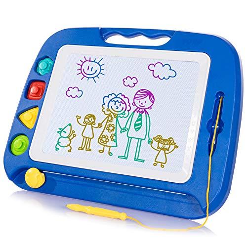 SGILE Grande Lavagna Magnetica per Bambini 2, 3, 4 Anni, Tavola da Disegno Cancellabile Lavagnetta Magica, Giocattoli Educativi, Regalo per Bambini, Portatile