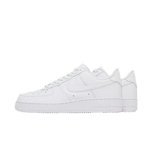 Nike Air Force 1 '07, Scarpe Uomo, White/White, 40.5 EU