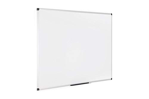 Bi-Office Maya - Lavagna Magnetica Bianca, 120 x 90 cm, Con Cornice In Alluminio, Superficie Magnetica Acciaio Laccato