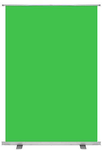 KHOMO GEAR Sfondo Verde Schermo Fondale Chiave Cromatica Pro per Fotografia e Video Studio Portatile 100 x 200 cm - Verde