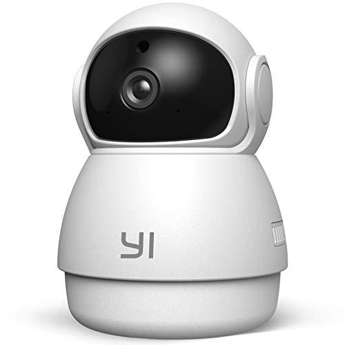 YI Dome Guard Telecamera Wi-Fi Interno 1080p, Videocamera Sorveglianza 360 gradi, Rilevamento di Movimento, Audio Bidirezionale, Visione Notturna a infrarossi,YI HOME App per iOS/Android/Windows