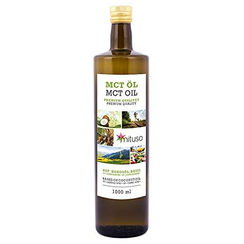 olio mituso MCT, qualità premium, 1 confezione (1x 1000 ml)