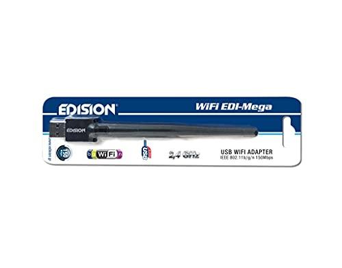 Edision ADATTATORE USB Wi-Fi DONGLE WiFi EDI-Mega, ANTENNA 150 Mbps, Ralink 5370, PICCO T265, PICCO T265+, PROTON T265 LED, HYBRID lite, PROTON S2
