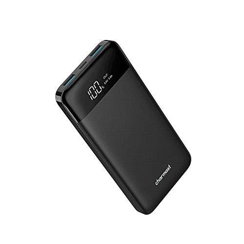 Powerbank 10400mAh, USB C Caricabatterie Portatile con LED Digitale Display Batteria Esterna Portatile con 2 ingressi e 3 uscite da 5V/3A per Huawei Xiaomi Smartphone.(Nero)