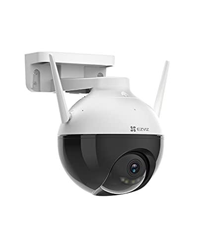 EZVIZ C8C Telecamera WiFi da Esterno 1080p Motorizzata, Telecamera WiFi di Sorveglianza, Videocamera Esterna Pan&Tilt con Copertura Visiva a 360 °,con Visione Notturna Fino a 30 m,AI, Impermeabile