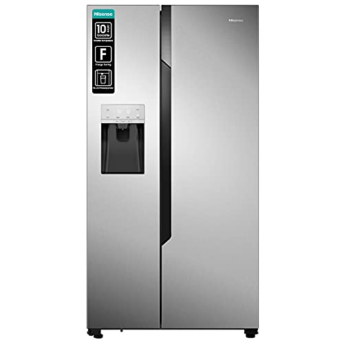 Hisense RS694N4TC2 Freestanding 535L A++ Stainless steel side-by-side refrigerator - Side-By-Side Fridge-Freezers (Freestanding, Stainless steel, American door, LED, Touch, LED)