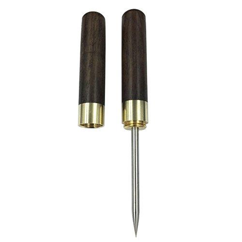 Rompighiaccio in acciaio inossidabile con manico e custodia in legno (sandalo nero)